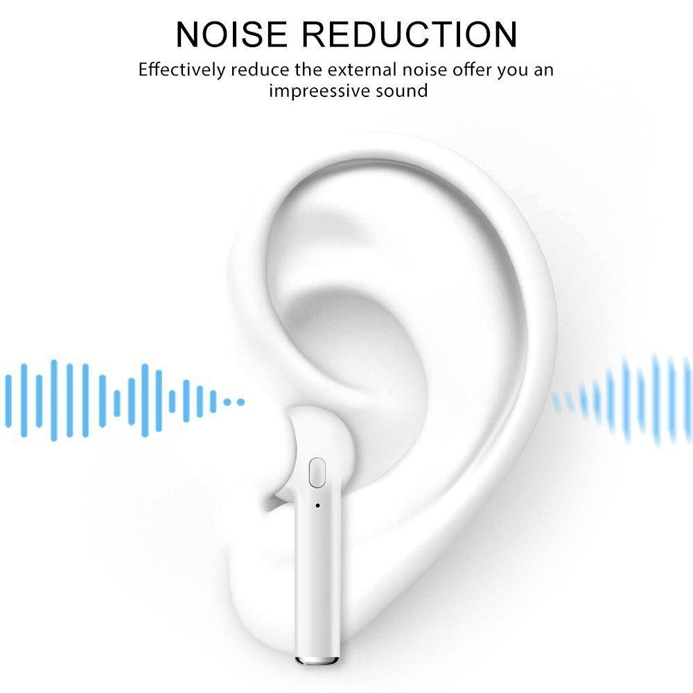 auriculares est/éreo con micr/ófono de supresi/ón de ruido auriculares integrados auriculares inal/ámbricos para iOS Airpods Android iPhone Auriculares inal/ámbricos Bluetooth