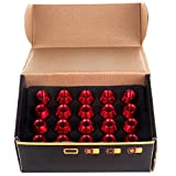 ECCPP New 20 Pcs Red M12X1.5 60MM Extended Forged Alumitum Tuner Racing Lug Nut Set