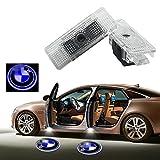 2Pcs Car Door LED Laser Logo Projector Light for BMW E39 E53,YANF Ghost Shadow Welcome Lights Symbol Emblem Courtesy Step Lights Ground Lamp Kit