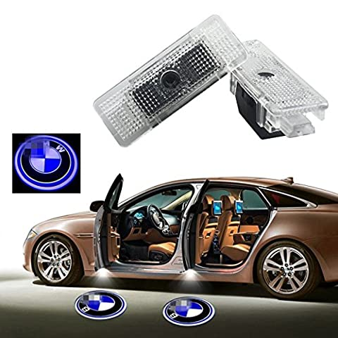 2Pcs Car Door LED Laser Logo Projector Light for BMW E39 E53,YANF Ghost Shadow Welcome Lights Symbol Emblem Courtesy Step Lights Ground Lamp (Bmw Shadow Door Light)