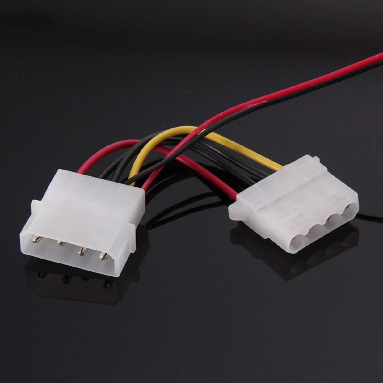 MXECO PC Ventilatore per Computer Quad 4 LED Luce 120mm PC Custodia per Computer Ventola di Raffreddamento MOD Silenzioso Connettore Molex Ventilatore Facile da installare 12V