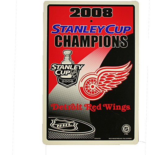Rico NHL Detroit Red Wings 2008 Stanley Cup Champions Parking Sign