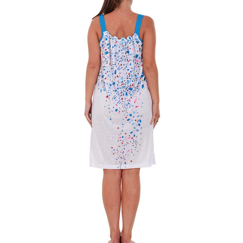 d71eb7c1ff Amazon.com  Womens Short Nightdress Summer Sleeveless Nightwear Floral   Clothing