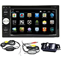 Android 4.2 Double Din 6.2- inch Capacitive Touch Screen Car Stereo DVD Player Radio In Dash GPS Navi Navigation + Free Backup Reversing Parking Camera