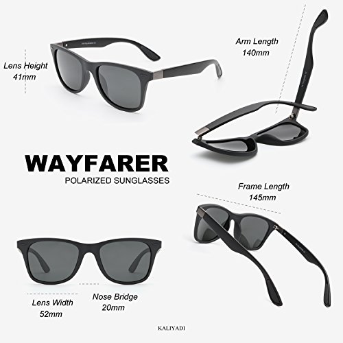 a448c47ece5 Mens Wayfarer Sunglasses Polarized Womens - Memory Material Durable    Lightweight - UV 400 with case