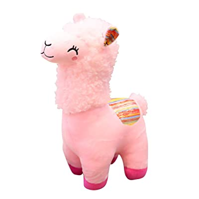 Maserfaliw Christmas Plush Toy Lovely Alpaca Animal Doll Plush Stuffed Toy Children Birthday Pink: Home & Kitchen