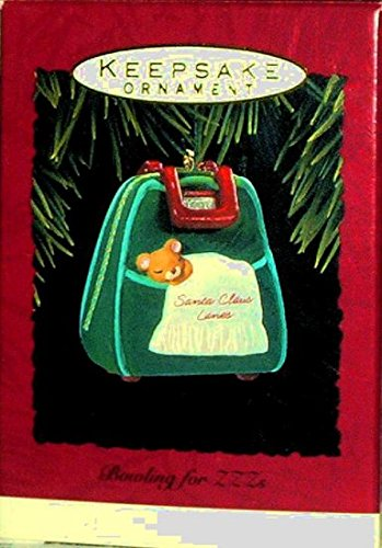 Hallmark Keepsake Christmas Ornament Bowling for Zzz's 1993 Ball Bag with - Shopping Green Bowling