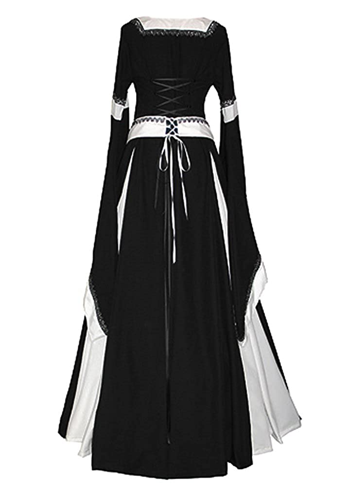 fe10c807edd Amazon.com  Misassy Womens Medieval Dress Renaissance Costumes Irish Over  Long Dress Cosplay Retro Gown  Clothing