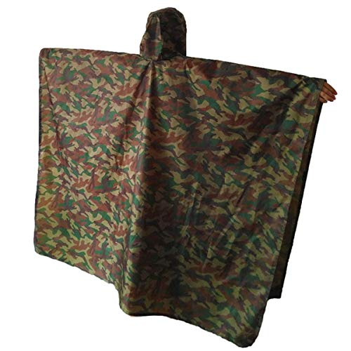 - A-MORE Rain Poncho,Waterproof Raincoat with Hoods Rain Poncho for Outdoor Activities Men,Women (Army green camouflage rain poncho), Large