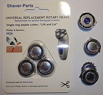 Cabezales de afeitado alternativos que se adaptan a la afeitadora Philips: compatible con HQ6 Lift & Cut.: Amazon.es: Salud y cuidado personal