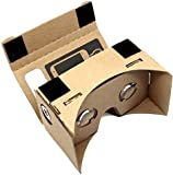 Blisstime DIY Google Cardboard 3d Vr Virtual Reality 3d Glasses for Iphone Samsung HTC Cellphones 3-5 Inch Screen