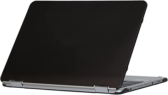 mCover iPearl Hard Shell Case for 12.5-inch ASUS Chromebook Flip C302CA Series Laptop - Black