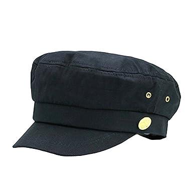 Cerrado Gorras Militares Hombre Mujer Monocromático Admiral Marinero Capitán Sombreros Negro: Amazon.es: Ropa y accesorios