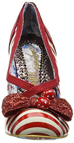 Irregular Choice Wanderlust, Scarpe col Tacco Punta Chiusa Donna Rosso (Red/White A)