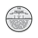 Eckler's Premier Quality Products 40141890 Full Size Chevy Tire Pressure Decal