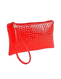Mapletop Long Purse Women Crocodile PU Leather Clutch Handbag Coin Bag