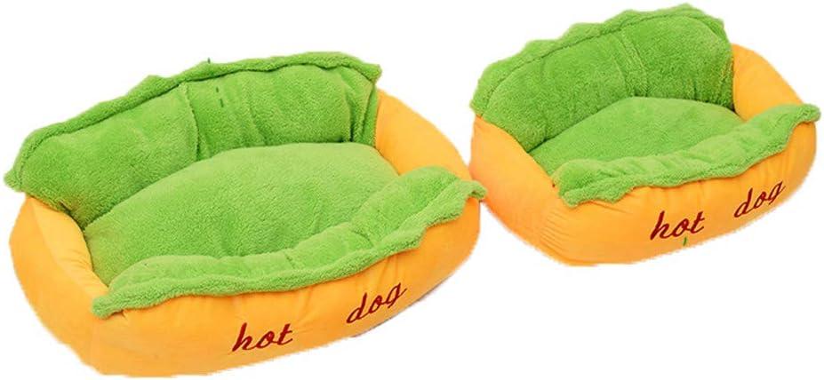Amazon.com: Cama para perro con diseño de perro caliente ...