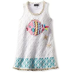 Mud Pie Little Girls' Crochet Fish Cover Up