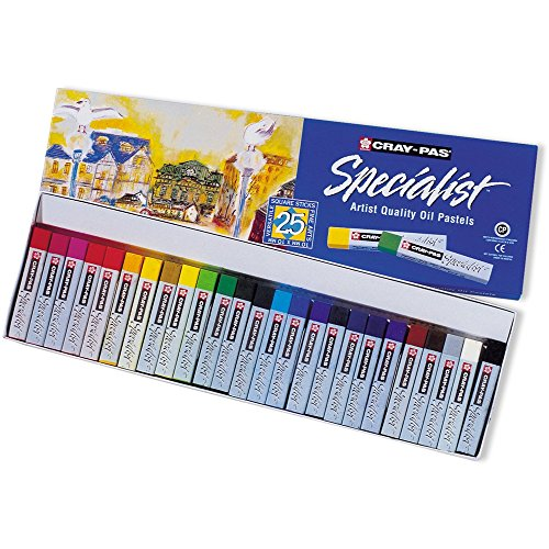Sakura Cray-Pas Specialist Oil Pastels, Set of 25 Assorted Colors (ESP25)