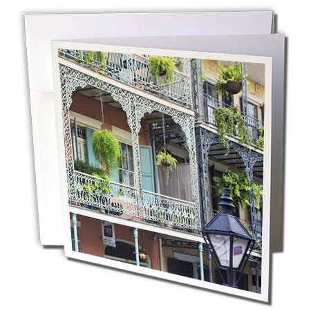 Louisiana Quarters (3dRose Louisiana, New Orleans, French Quarter - US19 RTI0002 - Rob Tilley - Greeting Cards, 6 x 6 inches, set of 12 (gc_90472_2))