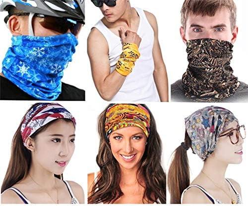 Tofox 6 St/ück Sporttuch Gesichtsmaske Bandana Stirnband Schwei/ßband F/ür Reiten,Motorrad,Wandern,Angeln Und Andere Outdoor-Aktivit/äten