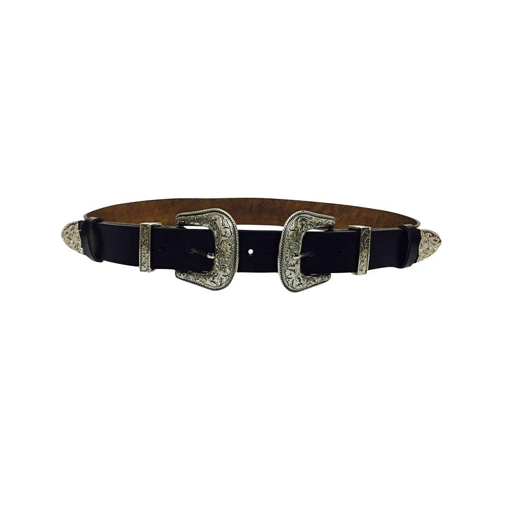iShine Donna Retro Moda Casual Pelle Artificiale Cintura con Fibbia in Metallo per Jeans o Vestito