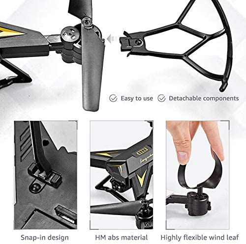 WiFi FPV Drone with 1080p Camera Live Video Drone for Beginne rs w/Voice Control, Circle Fly, High-Speed Rotation, Altitude Hold, Headless Mode