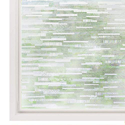 "Rabbitgoo Privacy Window Film Frosted Matte Window Film Static Cling Door Film No Glue Window Film Heat Control Window Sticker Anti-UV Glass Film for Home Office,Living Room,Meeting Room 17.5""x 78.7"""