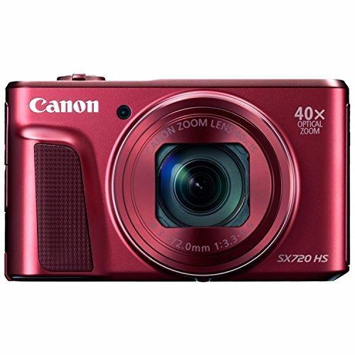 Canon PowerShot SX720 HS Digital Camera (Red) (Renewed)