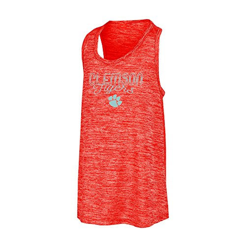 Champion NCAA Clemson Tigers Girls Tank Top with Scoop Neck and Racer Back, Medium, - Girl Clemson