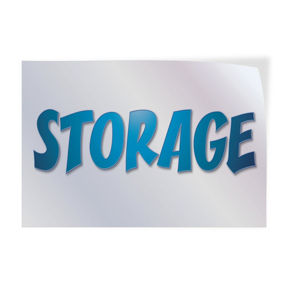 Decal Sticker Multiple Sizes Storage #1 Style B Business Storage Outdoor Store Sign White Set of 10 14inx10in