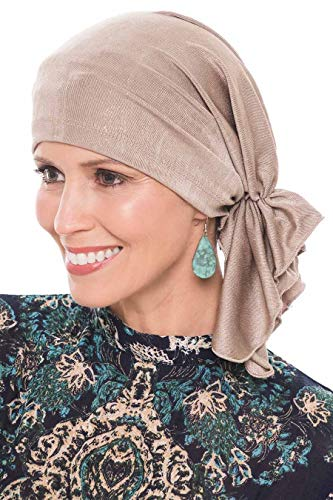 Snood Gold - Slip-On Slinky-Caps for Women with Chemo Cancer Hair Loss Neutral Gold Sparkle