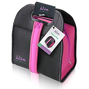 Blm Collection Insulated Neoprene Lunch Bag with Adjustable Strap (Pink)