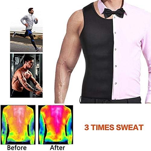 Cabeen Herren Hot Sauna Sweat Weste Shapewear Neopren Korsett Fitness Bauchweg Training Tank Top Armellos Shirt Taillentrainer Fatburner f/ür Gewichtsverlust