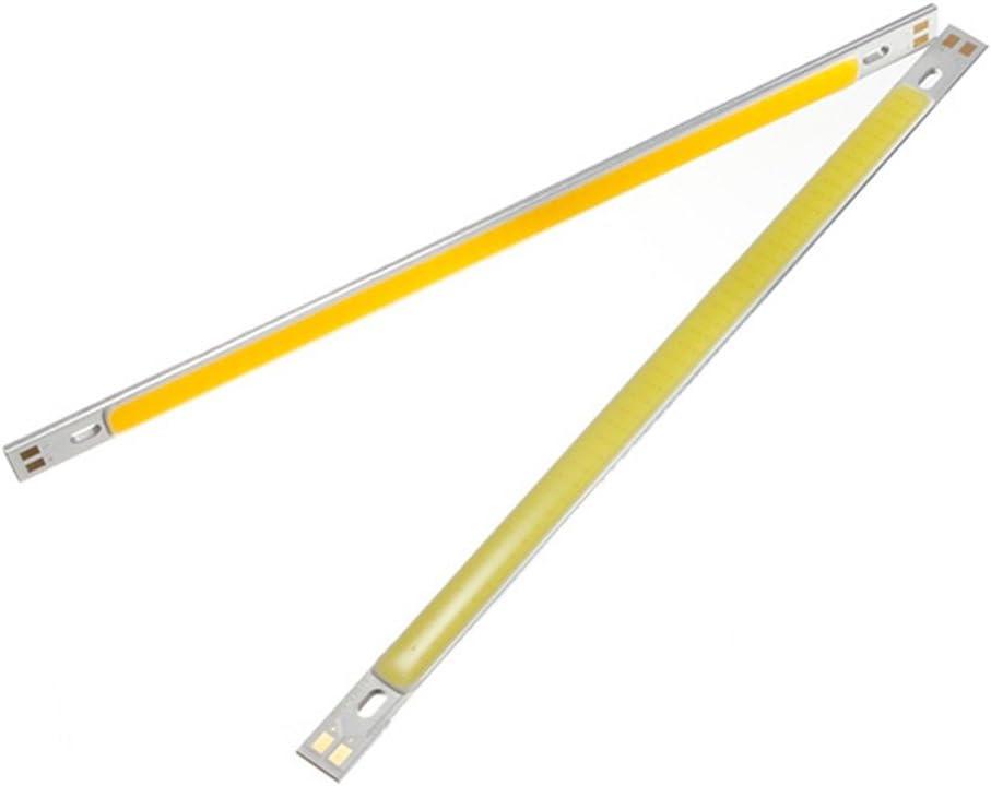 2Pcs Slim COB LED luz de tira 10W 12-24V puro / cálido blanco 1000LM Bulbo para lámpara de mesa DIY ( Color : Blanco cálido )