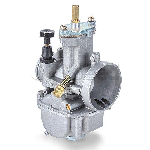 (MIT Motors - OKO PWK 21mm Flat Slide Carburetor Kit - Universal 2/4 Stroke Cycle 80cc 100cc 125cc 250cc 350cc - Kawasaki KX80 KX100 KX125 - BSA)