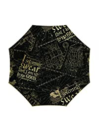 Harry Potter I Solemnly Swear Marauder's Map Umbrella Standard