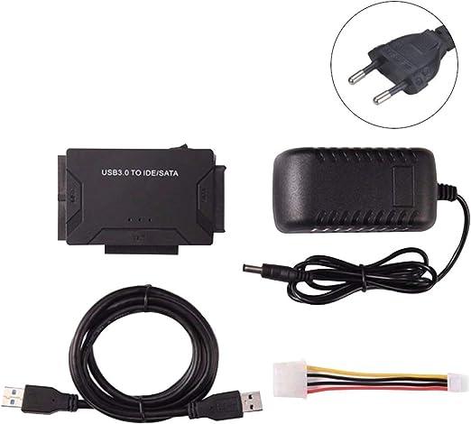 Wiivilik USB3.0 a SATA/IDE HDD Disco Duro Converter 2.5/3.5 Pulgadas Disco Duro Externo Caja de la Caja 5 Gbps de Alta Velocidad Enchufe de la UE: Amazon.es: Hogar