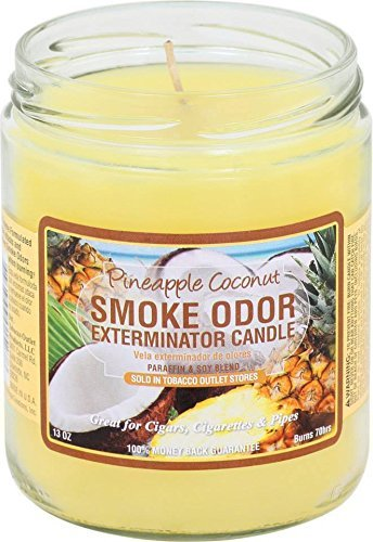 Smoke Odor Exterminator Candle, Pineapple & Coconut - 13 oz (Best Smelling Candles For Home)