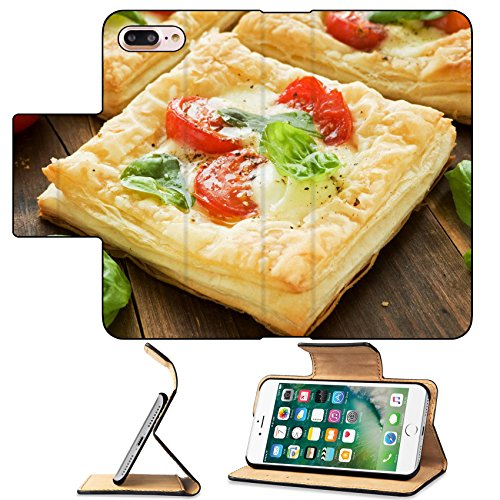 MSD Premium Apple iPhone 7 Plus Flip Pu Leather Wallet Case Puff pizzas with mozzarella cheese cherry tomatoes and baby basil Shallow dof IMAGE 21087486 - Herb Puffs
