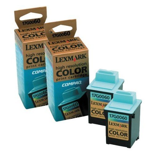 16G0096 Lexmark 17G0060 Color Ink Cartridge Twin Pack (16G0096