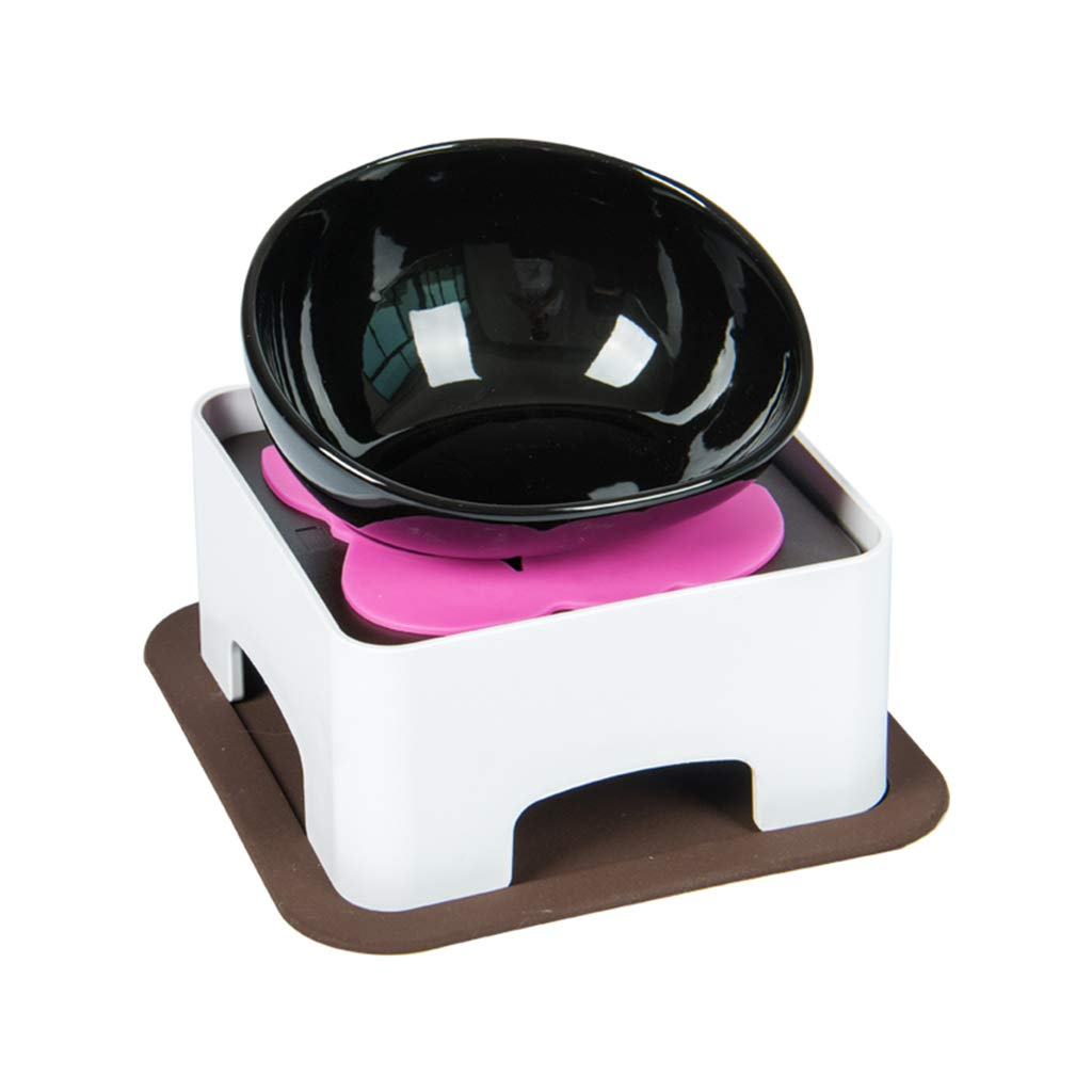 Black YANQ Ceramic Cat Bowl Dog Bowl Food Bowl Puppy Bowl Puppy Kitten Rabbit Non-Skid Cat Food Bowls Easy To Clean Durable Cat Dish For Food And Water (color   Black)