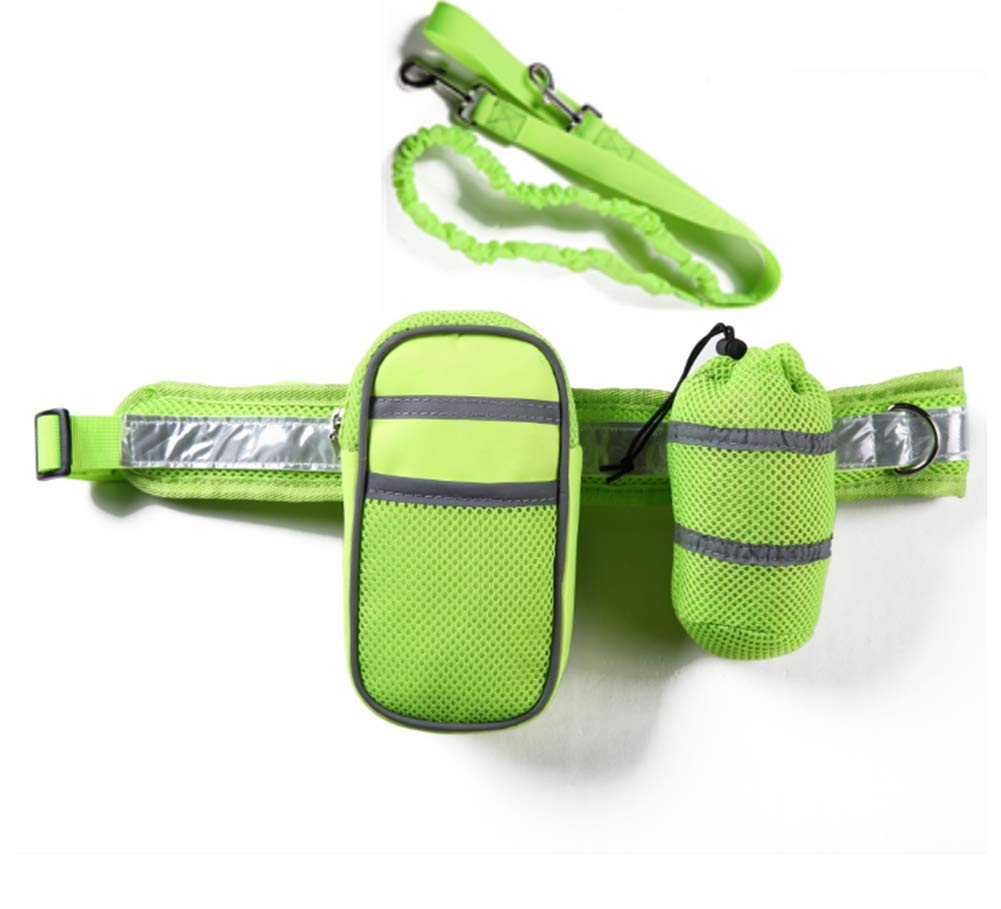 ZPEM Dog Hands Free Leads Walking Leash Shock Absorbing Walking Belt Reflective with Double Sided Lined Pouch for Running Walking Hiking Medium to Large Dogs