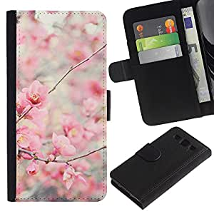 All Phone Most Case / Oferta Especial Cáscara Funda de cuero Monedero Cubierta de proteccion Caso / Wallet Case for Samsung Galaxy S3 III I9300 // Bloom Cherry Blossoms Tree Apple