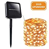 BHCLIGHT Solar String Lights, 200 LED Copper Wire Lights 8 Modes Solar Fairy Lights Waterproof Indoor/Outdoor Decoration String Lights for Garden, Yard, Patio, Lawn, Party, Wedding (Warm White)