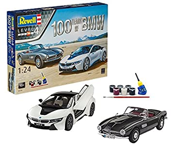 Revell- Maqueta Set de Regalo 100 años 507 & BMW i8 Kit ...