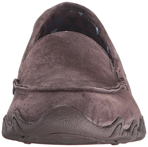 Marrone Chocolate Pedestrian Scarpe basso Donna a Skechers Suede Bikers Relaxed collo wSPqq8