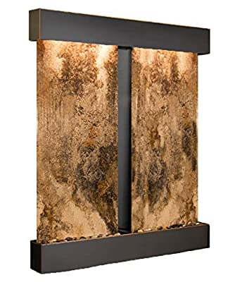 Cottonwood Falls Water Feature with Blackened Copper Trim and Square Edges