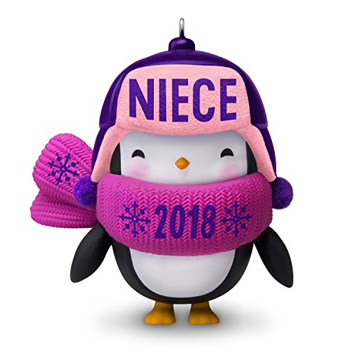 (Hallmark Keepsake Christmas Ornament 2018 Year Dated, Niece Penguin)