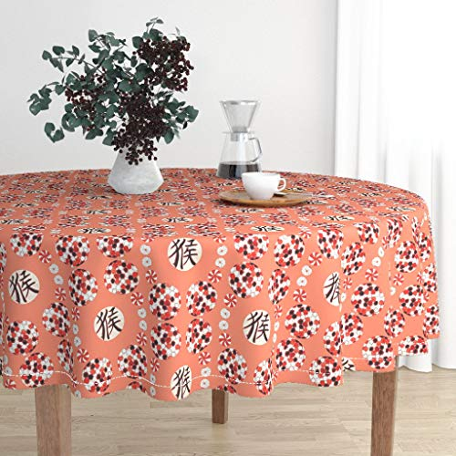 Amazon com: Round Tablecloth - Red Monkey Chinese Balls